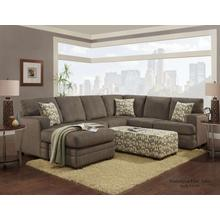 4160 Washington Living Room Sectional Hillel Chocolate Houston Texas USA Aztec Furniture