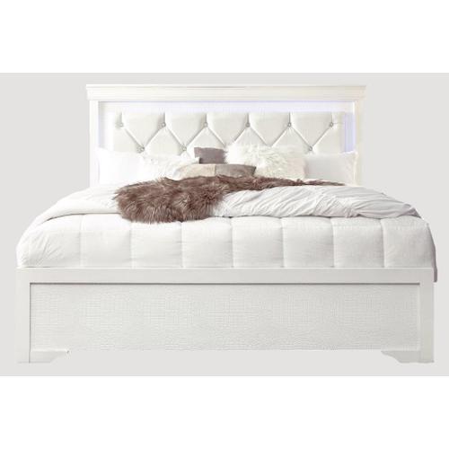 Pompeii King Bed White