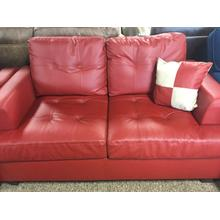 Poundex Bonded Leather Loveseat