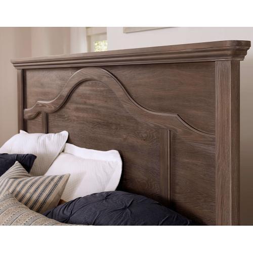 Vaughan-Bassett - King Bungalow Mantel Bed - Folkstone Finish