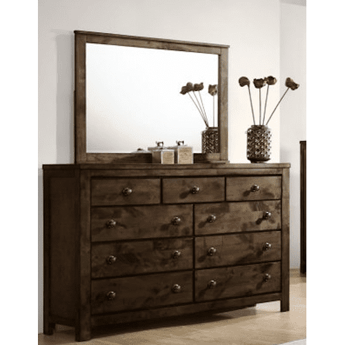 New Classic Furniture - BLUE RIDGE Queen Bedroom - Queen Bed, Dresser, Mirror