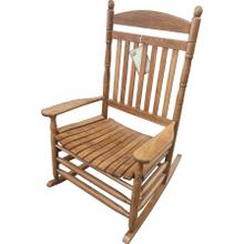 Jumbo Maple Porch Rocker