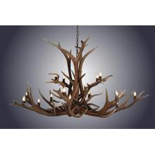 REAL 16 Light Double Tier Elk Antler Chandelier