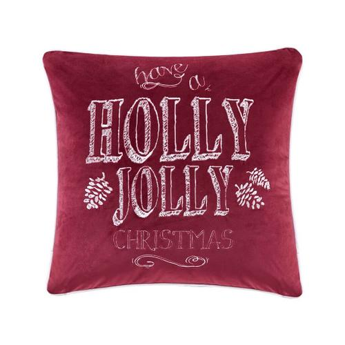 Holly Jolly Christmas Square Dec Pillow