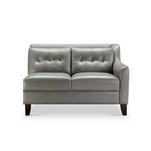 Leather Italia Usa 6640 Malibu Raf Loveseat 177027 Grey