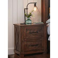 See Details - Sun Valley Nightstand Rustic Timber