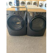 Refurbished Kenmore Elite Black Front Load Washer Dryer Set. Please call store if you would like additional pictures. This set carries our 6 month warranty, MANUFACTURER WARRANTY AND REBATES ARE NOT VALID (Sold only as a set)