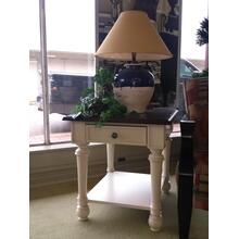 """2-Tone Dark on Light End Table measures 27.5"""" x 24"""" x 25"""" (Cocktail/Coffee table also available)"""