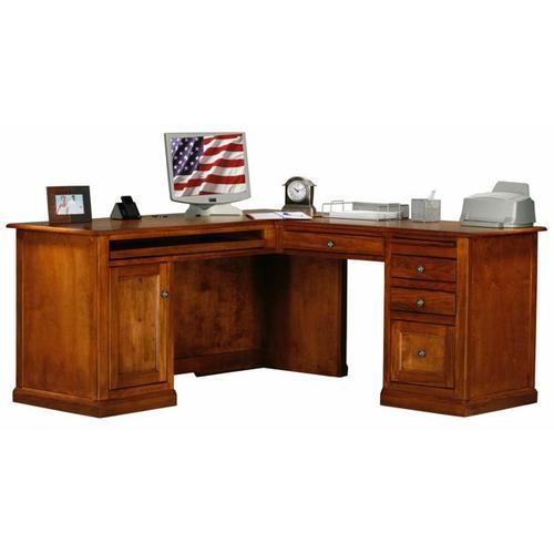 American Heartland Manufacturing - Poplar Desk & Return