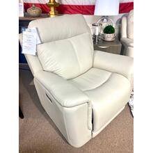 Burbank Laurel Cream Full Power Recliner w/ Lumbar