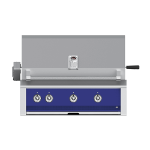 "Aspire By Hestan 36"" Built-In U-Burner, Sear and Rotisserie Grill NG Prince Blue"