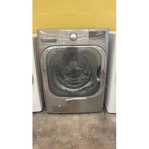 Treviño Appliance - LG Mega Capacity Front Load Washing Machine in Graphite Steel