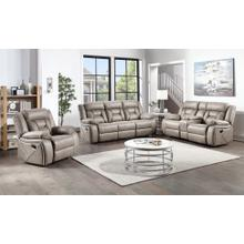 See Details - STEVE SILVER TY850S TY850LS TY850R Tyson Soft Camel Reclining Drop Down Table Console Sofa, Reclining Glider Console Loveseat & Glider Recliner Group