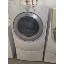 Dove Grey on White Whirlpool® Duet® Front-loading Electric Dryer