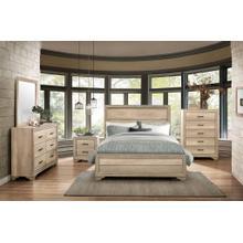 Rustic Grayish Brown 4 piece Queen Bedroom Set