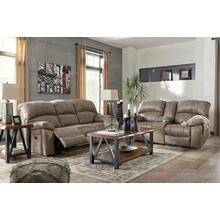 Dunwell- Driftwood Power Reclining Sofa and Loveseat w/ Adjustable Headrest