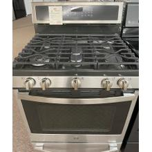 """View Product - GE Profile™ 30"""" Smart Free-Standing Gas Convection Range with Warming Drawer"""