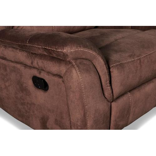 Cavett Glider Recliner in Cocoa Fabric