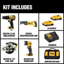 20-Volt MAX Lithium-Ion Cordless Combo Kit (4-Tool)