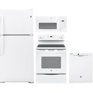 GE 4pc Appliance Package White or Black