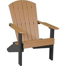 Folding Adirondack Chair Cedar and Black