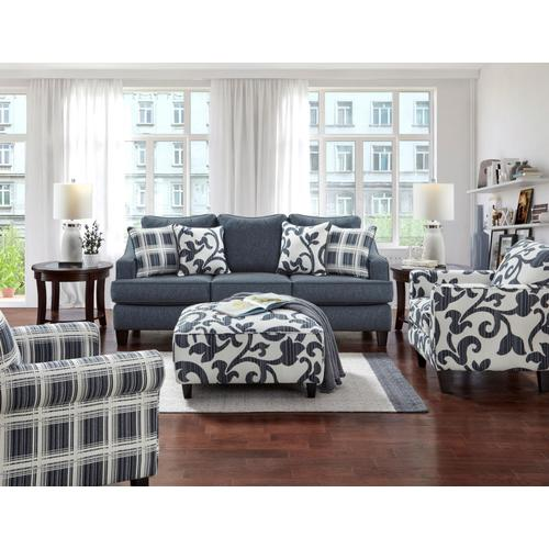 Designer's Choice - Truth or Dare Navy Stain Resistant Sofa & Loveseat