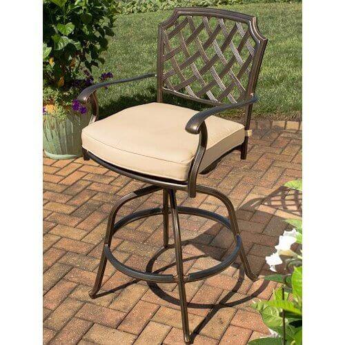 Agio Heritage Swivel Bar Chair