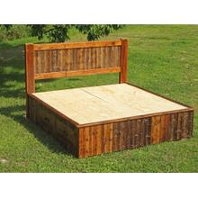 Barn Board Platform Bed with Drawers