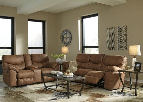 Boxberg- Bark Reclining Sofa and Loveseat