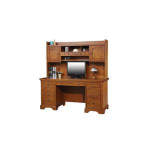 "Topaz 57"" Computer Flat Top Desk and Hutch"