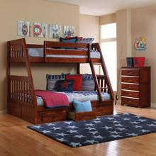 Merlot Twin over Full Bunk Bed