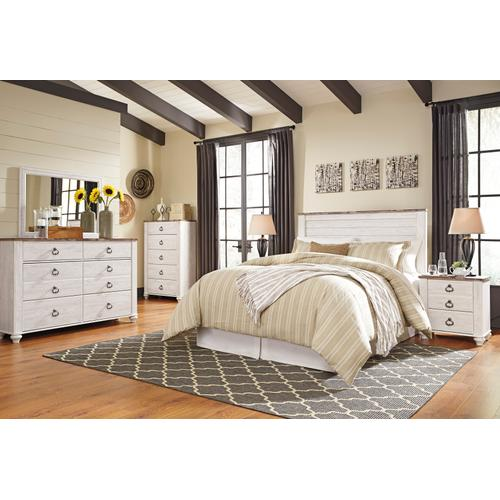Willowton - Whitewash 4 Piece Bedroom Set