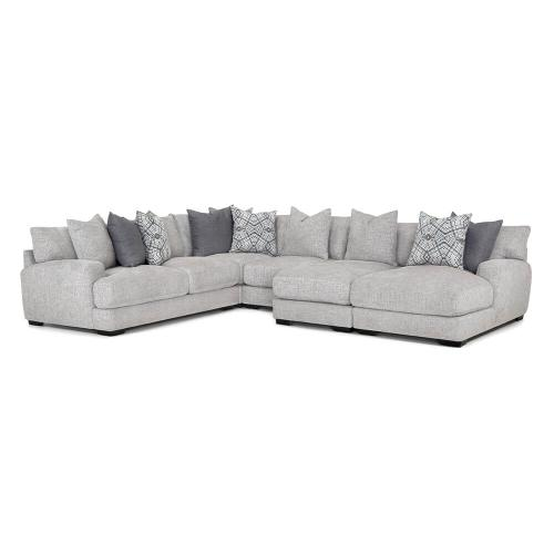 5-Piece Crosby Sectional in Crosby Dove Fabric