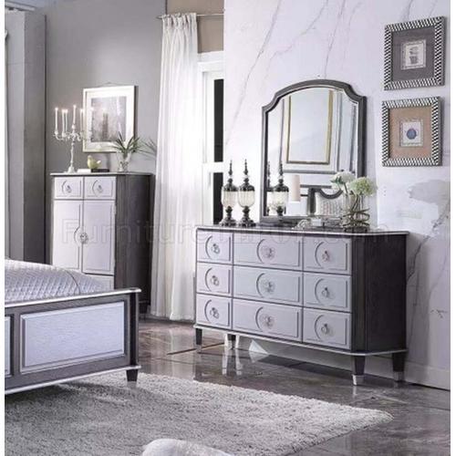 Acme Furniture Inc - House Marchesa 7PC Set: Queen Bed, Dresser, Mirror, Chest, Nightstand (28810)