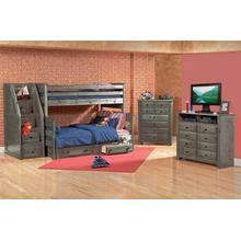 Twin / Full Bunkbed Rustic Grey