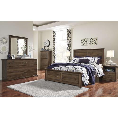 Ashley Furniture - Ashley Furniture B135 Burminson - Brown Bedroom Set Houston Texas USA.
