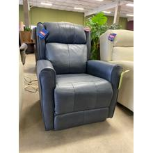 Power Recliner in Leather with Adjustable Headrest