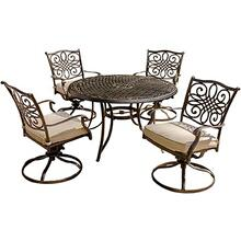 Traditions 5-Piece Swivel-Rocker Outdoor Dining Set