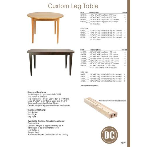 Door County Furniture - Leg Table