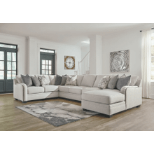 Dellara - Chalk - 5-Piece Sectional with Right Facing Chaise