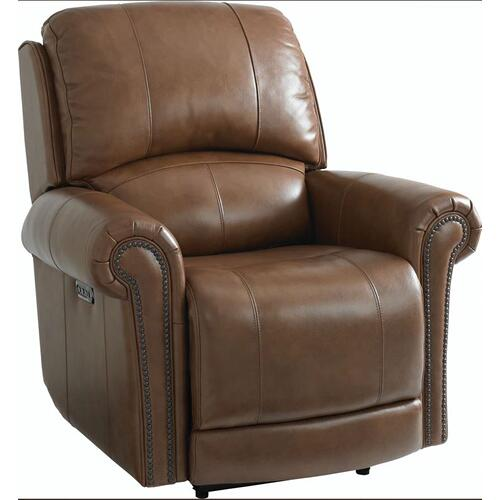 Bassett Furniture - Olsen Wallsaver Leather Recliner with Power