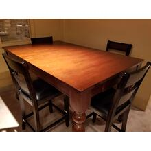 British Isles Solid Wood Counter Height Dining Table in Mahogany