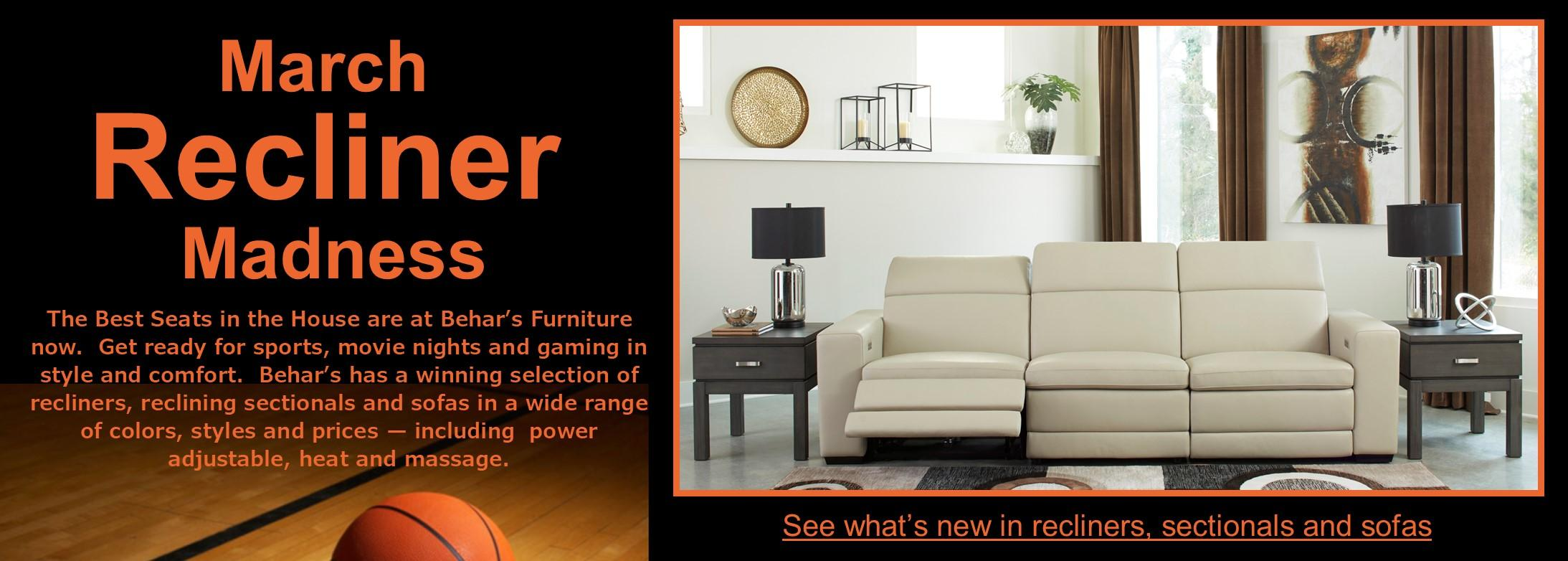 March Recliner Madness -- get ready for sports, movie nights and gaming