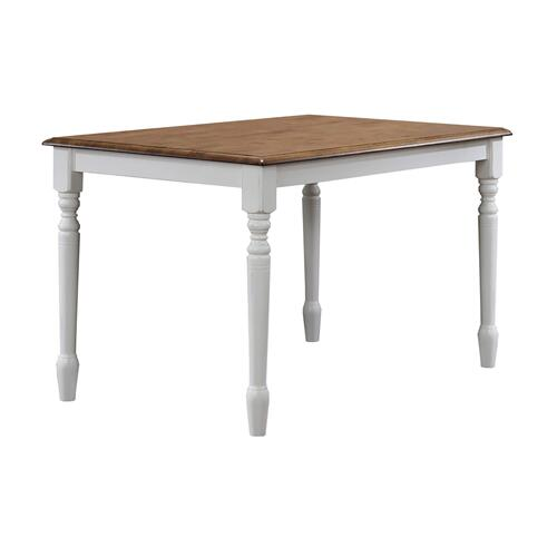"47"" Leg Table, Rustic Brown/White"