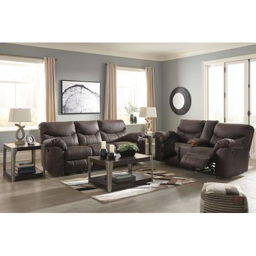 Ashley Furniture - 338 03 Teak Reclining Sofa and Loveseat