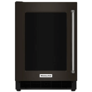Kitchenaid 5.1CF Black Stainless Steel Undercounter Refrigerator with Glass Door