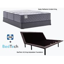 SEALY Evident King Mattress & BEDTECH Adjustable Foundation