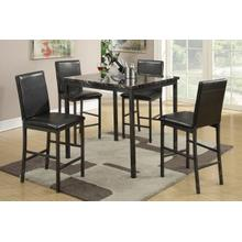Faux Marble 5 Piece Dining Set