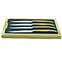 See Details - Laguiole en Aubrac Stainless Steel Steak Knives Set of 4-Piece with Plane Tree Wood Handle