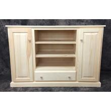 Maine Made 54 Plasma Stand With Drawer 54W X 36H X 18D Pine Unfinished